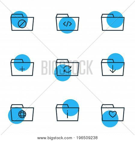 Editable Pack Of Recovery, Document Case, Dossier And Other Elements. Vector Illustration Of 9 Document Icons.