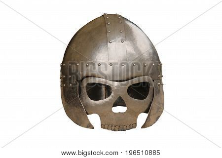 A Medieval Face Protection Metal Armour Mask.