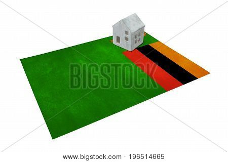 Small House On A Flag - Zambia
