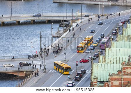Traffic In Copenhagen, Denmark, Editorial