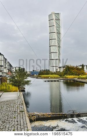 Turning Torso Skyscraper In Malmo, Sweden, Editorial