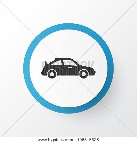 Sports Automobile Icon Symbol. Premium Quality Isolated Crossover Element In Trendy Style.