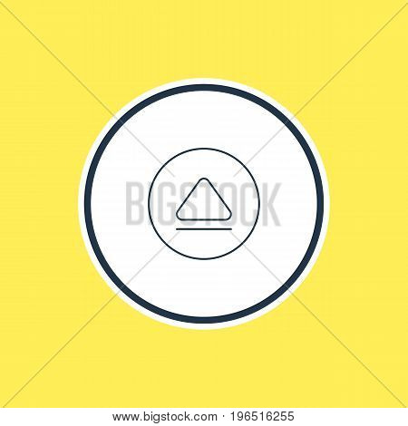 Vector Illustration Of Eject Outline. Beautiful Melody Element Also Can Be Used As Rewind Element.