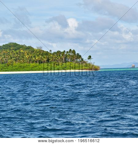 A View From  Boat  And The Pacific Ocean