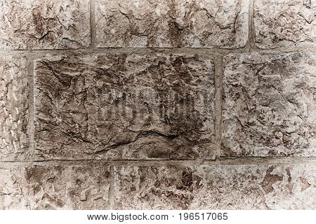 Abstract Texture Of A Dirty Brick   Wall