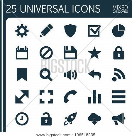 Interface Icons Set. Collection Of Options, Screenshot, Mark And Other Elements