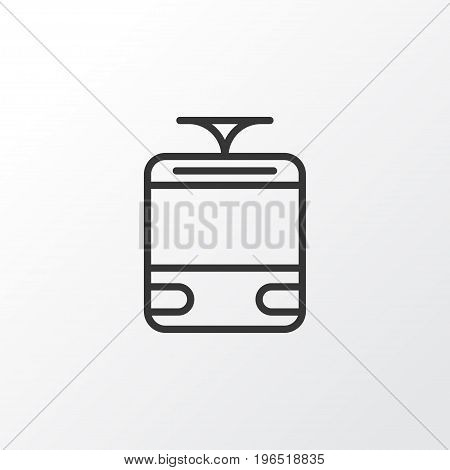 Tram Icon Symbol. Premium Quality Isolated Streetcar Element In Trendy Style.