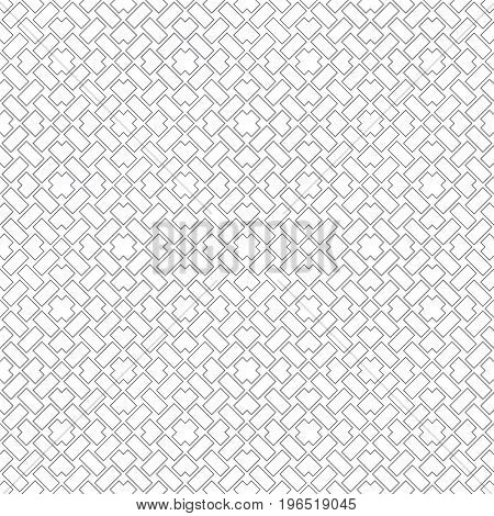 Vector seamless pattern. Simple minimal texture with regularly repeating classical geometrical shapes rectangles rhombuses corners diamonds crosses. Contemporary design.