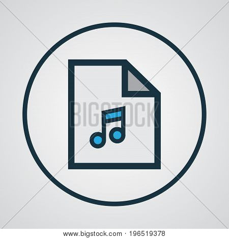 Song List Colorful Outline Symbol. Premium Quality Isolated Playlist Element In Trendy Style.