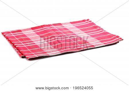 Folded napkin isolated on a white background
