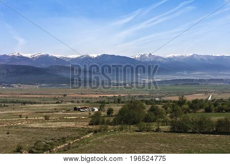 One of the views of Bansko, Bulgaria in spring time