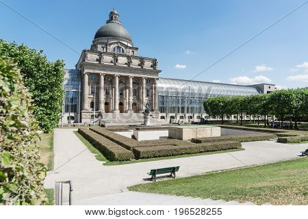 Bavarian State Chancellery building in Munich. Germany