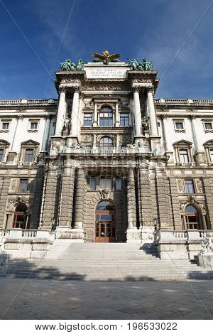 Museum Of Ethnology In Burggarten Park, Vienna. Museum Is One Of The Most Large Ethnological Museums