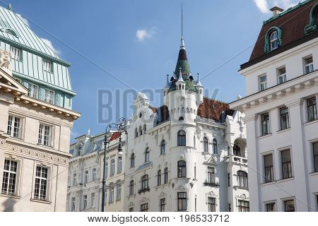 Beautiful Old Building In The Square Am Hof, In The Inner City In Vienna