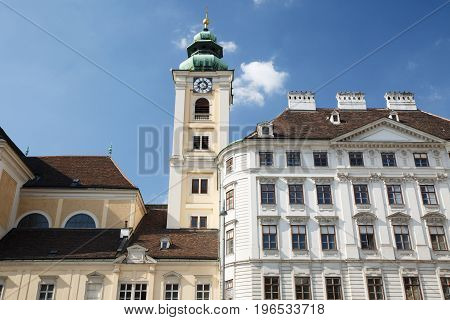 Scottish Abbey On The Square Freyung In The Center Of Vienna. Austria