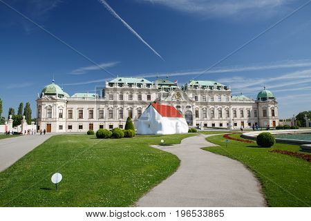 View Of The Belvedere Palace In Vienna. Austria