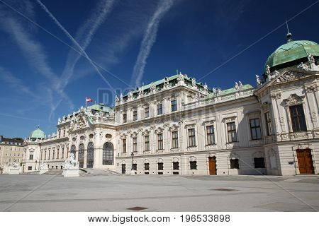 Beautiful Belvedere Palace In Vienna. Summer Residence