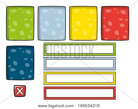 Set of different game assets isolated items part of game pack #2