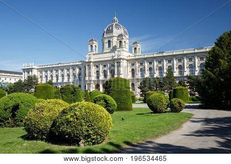 The Kunsthistorisches Museum (museum Of Fine Arts) In Vienna