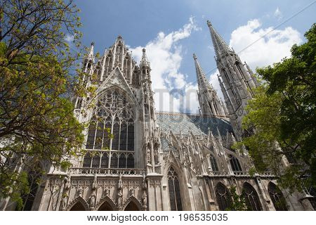 The Votive Church (votivkirche) Is A Neo-gothic Church In Vienna