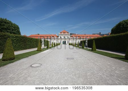 View Through The Grounds To Lower Belvedere Palace, Vienna