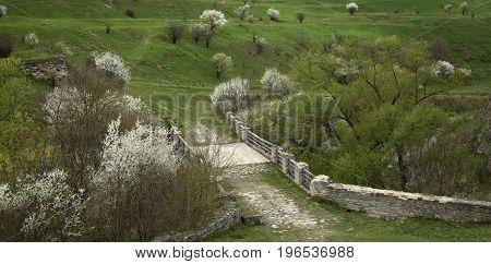 Bridge across the moat near the castle