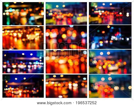 All Collection City Night Christmas Light Bokeh Blurred Background