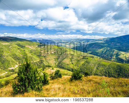 Andean landscape around Samaipata village, Bolivia, South America