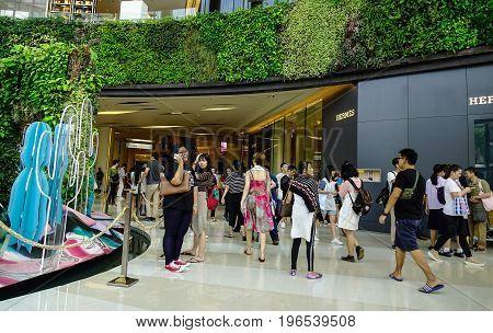 Inside Of Shopping Mall In Bangkok, Thailand