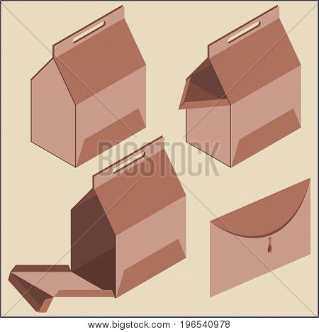 Graphic representation of carton packaging, transport device