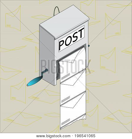 Postal service, vector image, icon, ironic image