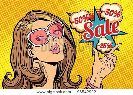 Beautiful hot sale woman. Pop art retro comic book vector illustration