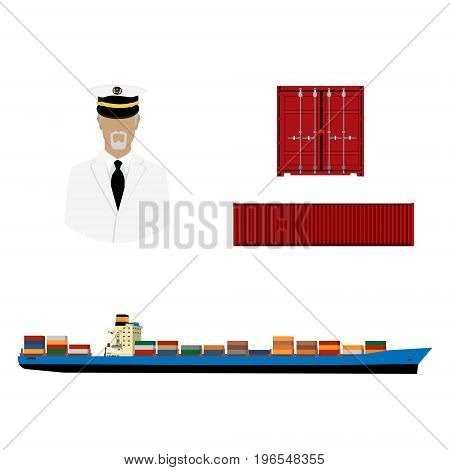 Ship, Container And Captain