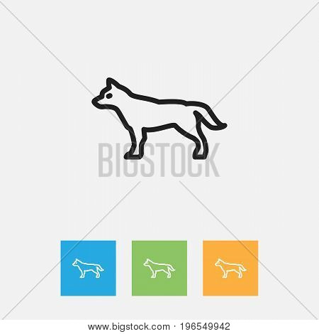 Vector Illustration Of Zoo Symbol On Hound Outline