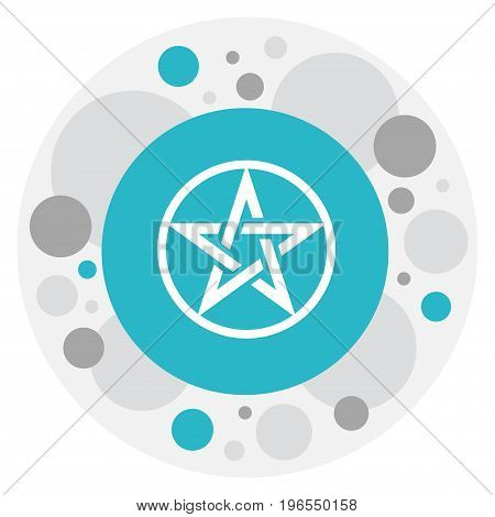 Vector Illustration Of Religion Symbol On Baphomet Symbol Icon