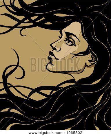 Art Nouveau Girl.Eps