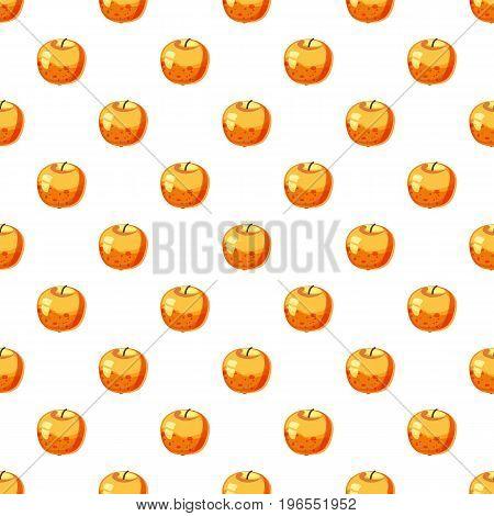 Apple pattern seamless repeat in cartoon style vector illustration
