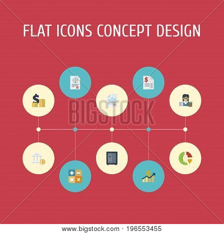 Flat Icons Act, Algebra, Paper And Other Vector Elements