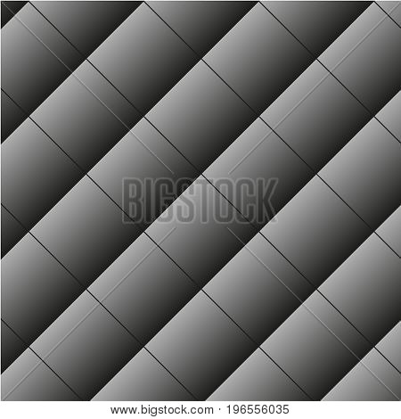Abstract image, silver plates square folded diagonally.