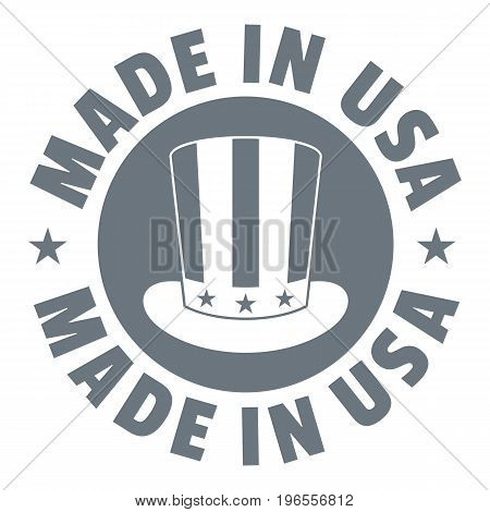 Made in USA top hat logo. Simple illustration of made in USA top hat vector logo for web design