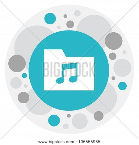 Vector Illustration Of Multimedia Symbol On Folder Icon