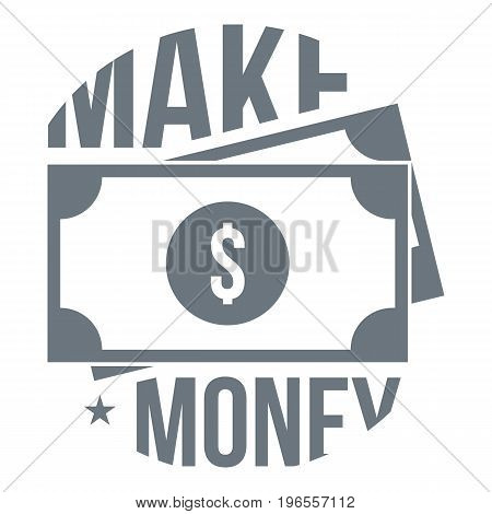 Make money logo. Simple illustration of make money vector logo for web design