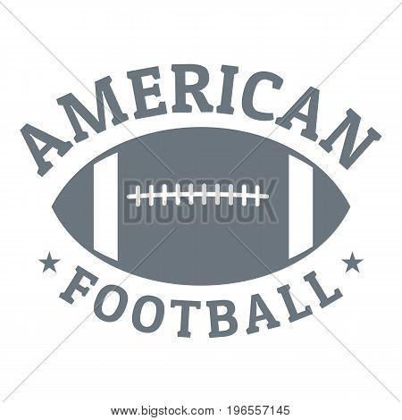 American football logo. Simple illustration of american football vector logo for web design
