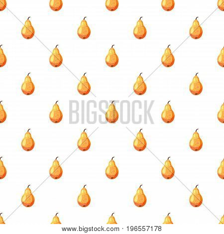 Pear pattern seamless repeat in cartoon style vector illustration