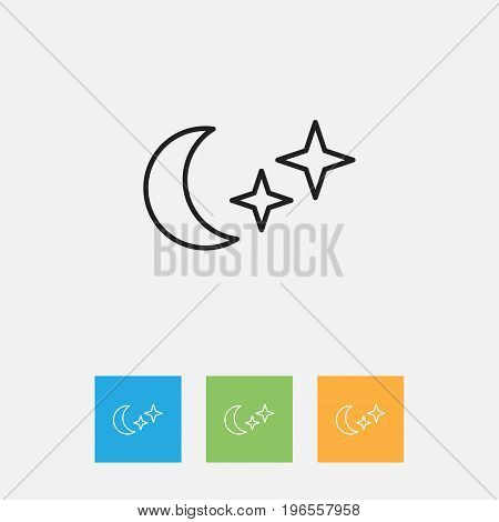 Vector Illustration Of Climate Symbol On Midnight Outline