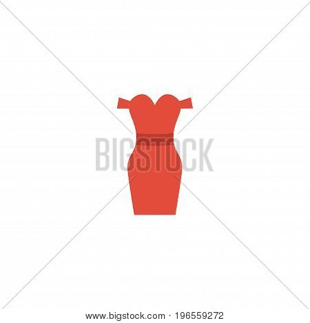 Flat Icon Evening Dress Element. Vector Illustration Of Flat Icon Sundress Isolated On Clean Background