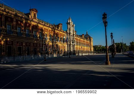 University college in Seville Spain Europe during the golden hour