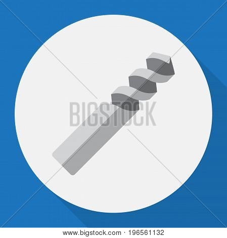 Vector Illustration Of Electric Symbol On Borer Flat Icon