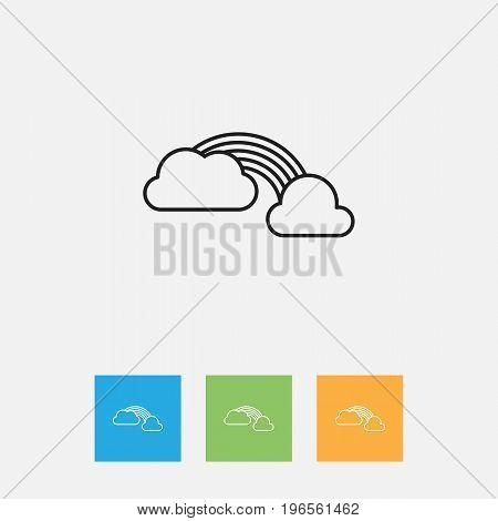 Vector Illustration Of Air Symbol On Rainbow Outline