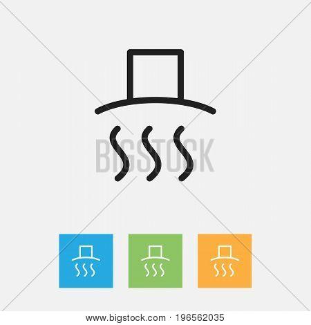 Vector Illustration Of Meal Symbol On Lid Outline